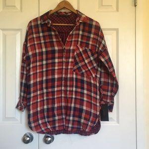 * Zara plaid shirt NWT